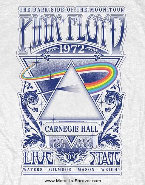PINK FLOYD -ピンク・フロイド- LIVE AT CARNEGIE HALL POSTER 1972 「ライヴ・アット・カーネギー・ホール・ポスター・1972」 Tシャツ(白)