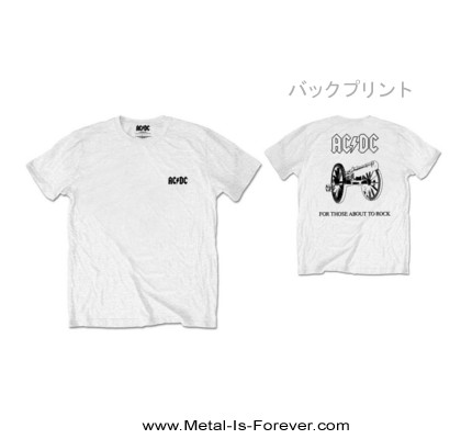 AC/DC -エーシー・ディーシー- FOR THOSE ABOUT TO ROCK 「悪魔の招待状」  Tシャツ(白)