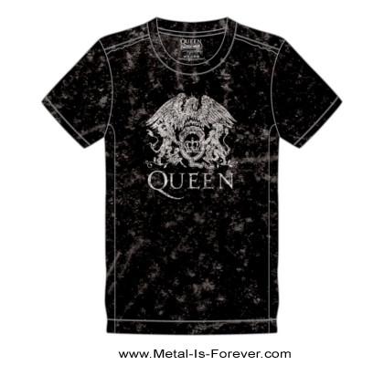 QUEEN (クイーン) CLASSIC CREST 「クラシック・クレスト」 スノーウォッシュ Tシャツ