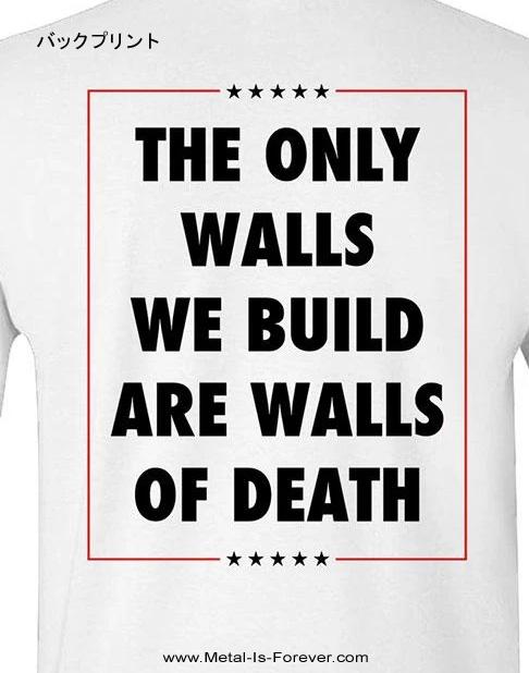 MUNICIPAL WASTE (ミュニシパル・ウェイスト) TRUMP WALLS OF DEATH 「トランプ・ウォールズ・オブ・デス」 Tシャツ(白)