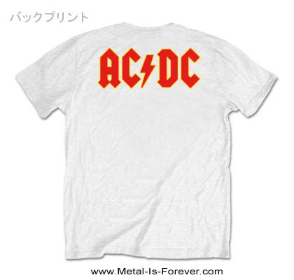 AC/DC -エーシー・ディーシー- LOGO 「ロゴ」  Tシャツ(白)