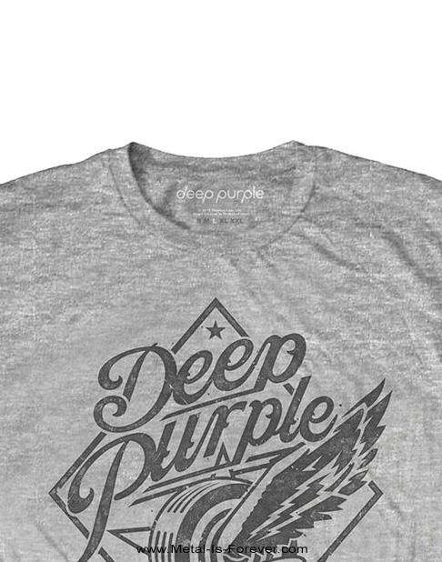 DEEP PURPLE (ディープ・パープル) HIGHWAY STAR 「ハイウェイ・スター」 Tシャツ(グレー)