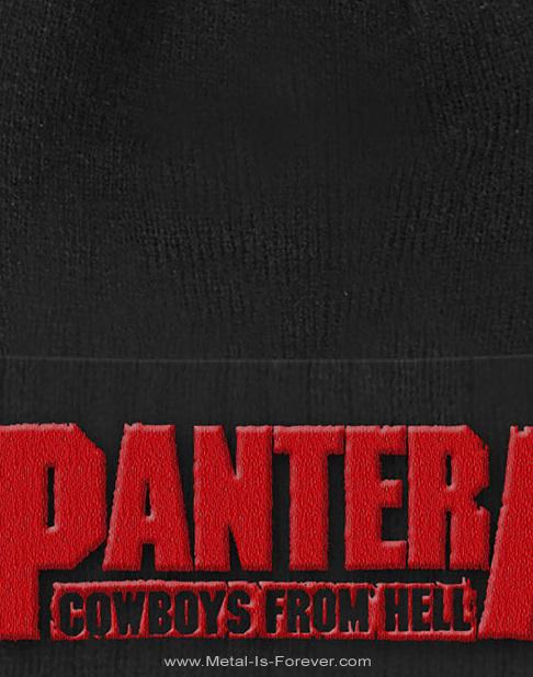 PANTERA (パンテラ) COWBOYS FROM HELL 「カウボーイズ・フロム・ヘル」 ニットキャップ(折り返しあり)