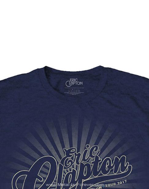 ERIC CLAPTON (エリック・クラプトン) LOGO RAYS 「ロゴ・レイズ」 Tシャツ(ネイビー・ブルー)