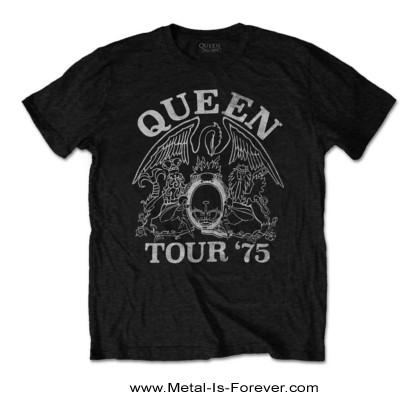 QUEEN (クイーン) TOUR '75 「1975年ツアー」 エコTシャツ