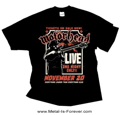MOTORHEAD -モーターヘッド- LEMMY FIREPOWER 「レミー・ファイヤーパワー」 Tシャツ