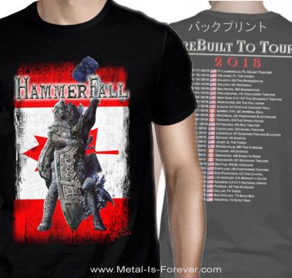 HAMMERFALL -ハンマーフォール- REBILT TO TOUR 「リビルト・トゥ・ツアー」 2018年北米ツアー カナダ Tシャツ