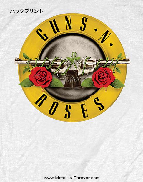 GUNS N' ROSES -ガンズ・アンド・ローゼズ- CLASSIC LOGO 「クラシック・ロゴ」 Tシャツ(バックプリント)