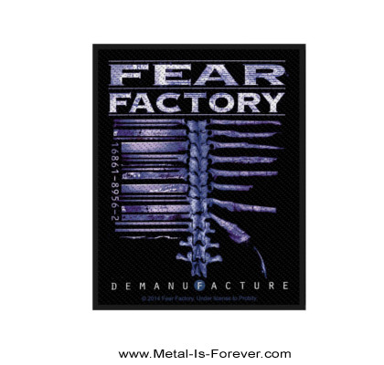 FEAR FACTORY (フィア・ファクトリー) DEMANUFACTURE 「ディマニファクチャー」 ワッペン