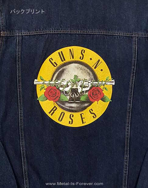 GUNS N' ROSES (ガンズ・アンド・ローゼズ) CLASSIC LOGO 「クラシック・ロゴ」 デニム・ジャケット