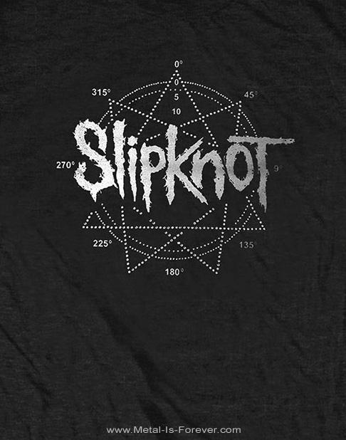 SLIPKNOT -スリップノット- LOGO STAR 「九芒星」 Tシャツ(ラインストーン)
