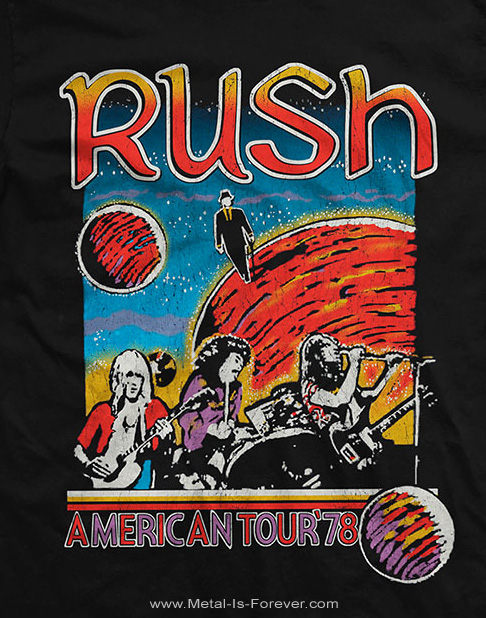 RUSH -ラッシュ- US TOUR 1978 「1978年USツアー」 Tシャツ