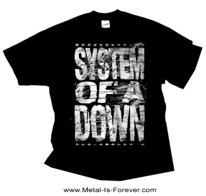 SYSTEM OF A DOWN (システム・オブ・ア・ダウン) DISTRESSED LOGO 「ディストレス・ロゴ」 Tシャツ