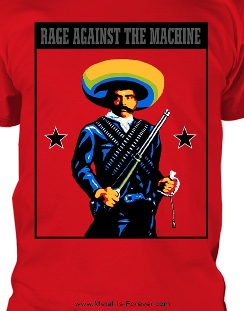 RAGE AGAINST THE MACHINE (レイジ・アゲインスト・ザ・マシーン) EMILIANO ZAPATA 「エミリアーノ・サパタ」 Tシャツ(赤)