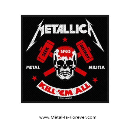 METALLICA (メタリカ) METAL MILITIA 「メタル・ミリティア〜メタル軍団」 ワッペン