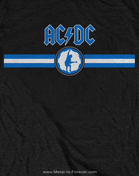 AC/DC (エーシー・ディーシー) BLUE LOGO & STRIPE 「ブルー・ロゴ・アンド・ストライプ」 Tシャツ