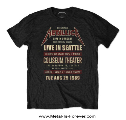 METALLICA (メタリカ) SEATTLE '89 「1989年シアトル」 エコTシャツ