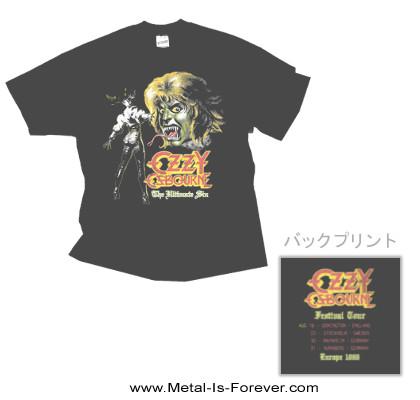 OZZY OSBOURNE (オジー・オズボーン) THE ULTIMATE SIN 「罪と罰」  リミックス Tシャツ(チャコールグレー)