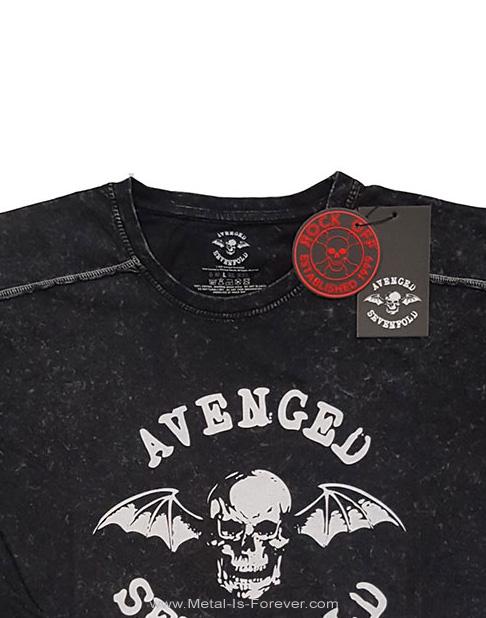 AVENGED SEVENFOLD (アヴェンジド・セヴンフォールド) CLASSIC DEATHBAT 「クラシック・デスバット」 スノーウォッシュ Tシャツ