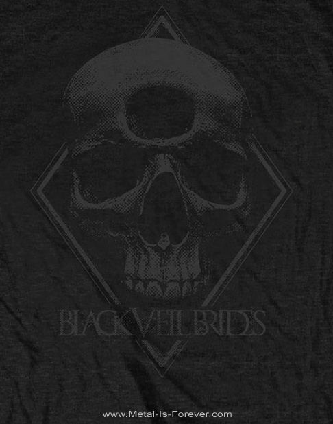 BLACK VEIL BRIDES (ブラック・ヴェイル・ブライズ) 3RD EYE SKULL 「サード・アイ・スカル」 Tシャツ