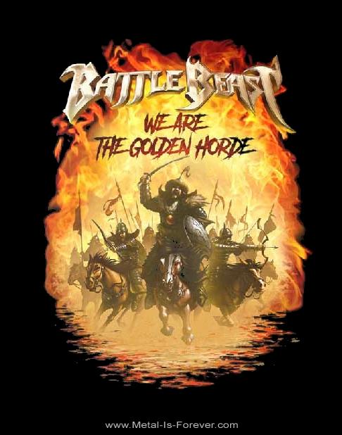 BATTLE BEAST (バトル・ビースト) THE GOLDEN HORDE 「ザ・ゴールデン・ホード」 Tシャツ