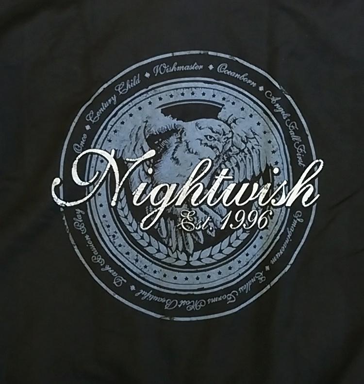 【在庫あり商品】NIGHTWISH -ナイトウィッシュ- LOGO OWL「ロゴ・オウル」 ジップ・パーカー Lサイズ