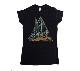 【在庫有り商品】DEF LEPPARD -デフ・レパード- TRIANGLE LOGO 「トライアングル・ロゴ」  レディースTシャツ Mサイズ