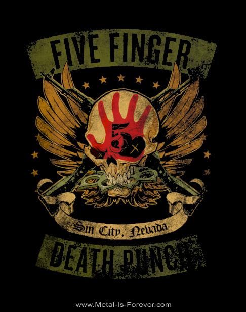 FIVE FINGER DEATH PUNCH -ファイヴ・フィンガー・デス・パンチ- LOCKED & LOADED 「ロックド・アンド・ローデッド」  Tシャツ