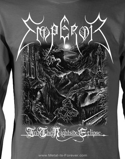 EMPEROR -エンペラー- IN THE NIGHTSIDE ECLIPSE 「闇の皇帝」 長袖TシャツVer.2(チャコール・グレー)