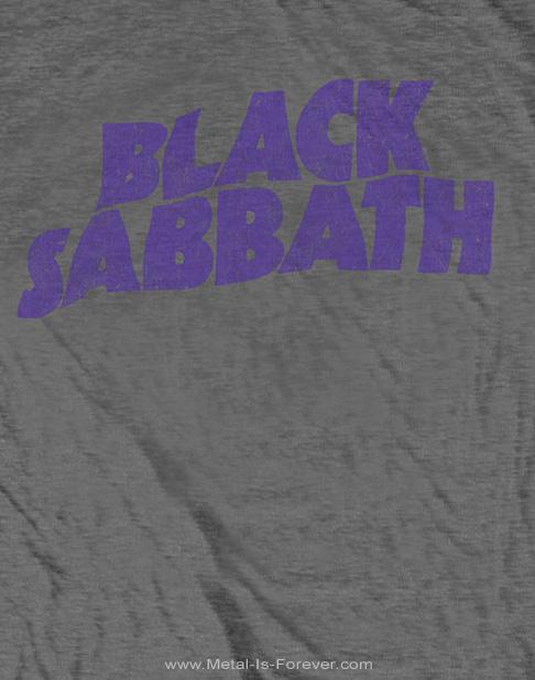 BLACK SABBATH (ブラック・サバス) WAVY LOGO VINTAGE 「ウェイビー・ロゴ」 キッズ Tシャツ(チャコール・グレー)