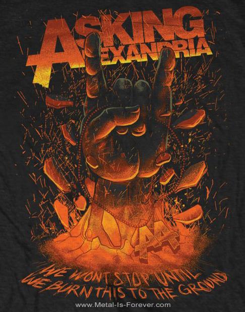 ASKING ALEXANDRIA (アスキング・アレクサンドリア) METAL HAND 「メロイック・サイン」 Tシャツ