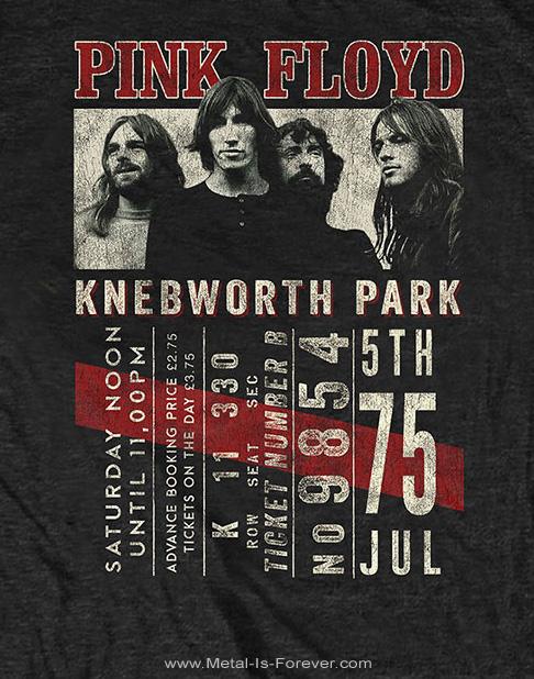 PINK FLOYD (ピンク・フロイド)  KNEBWORTH '75 「ネブワース '75」 エコTシャツ