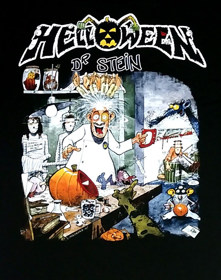 【在庫切れ商品】HELLOWEEN -ハロウィン- HELLOWEEN -ハロウィン- Keepers Live & Dr. Stein Tシャツ 「キーパーズ・ライヴ & ドクター・ステイン」 Tシャツ Mサイズ【コレクターズアイテム】