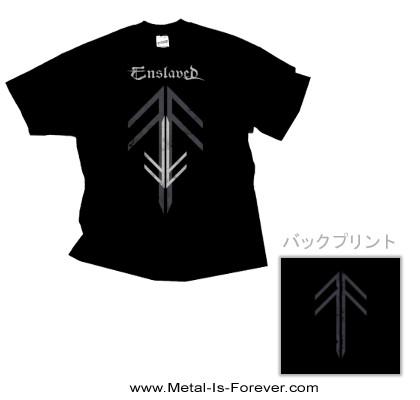 ENSLAVED -エンスレイヴド- RUNE CROSS 「ルーン・クロス」  Tシャツ