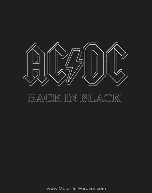 AC/DC -エーシー・ディーシー- BACK IN BLACK 「バック・イン・ブラック」 パーカー