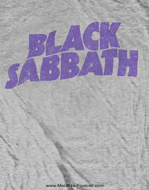 BLACK SABBATH (ブラック・サバス) WAVY LOGO VINTAGE 「ウェイビー・ロゴ」 キッズ Tシャツ(ヘザー・グレー)