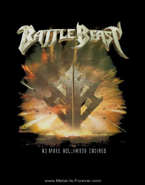 BATTLE BEAST (バトル・ビースト) NO MORE HOLLYWOOD ENDINGS 「ノー・モア・ハリウッド・エンディングス」 2019年北米ツアー Tシャツ