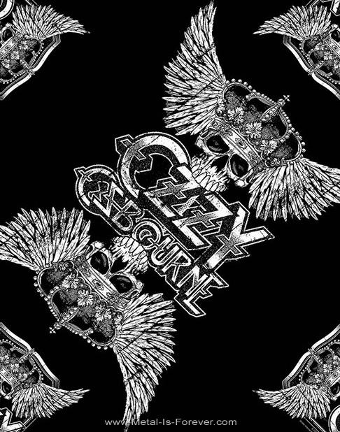 OZZY OSBOURNE (オジー・オズボーン) SKULL & WINGS 「スカル・アンド・ウイング」 バンダナ