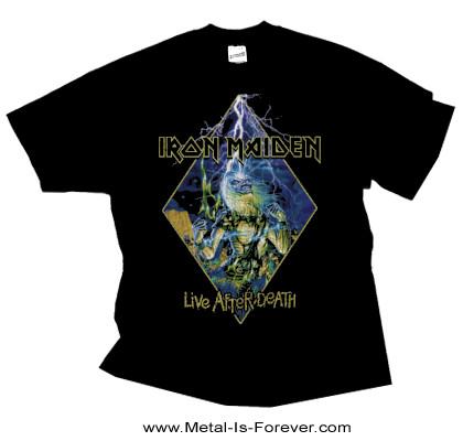IRON MAIDEN (アイアン・メイデン) LIVE AFTER DEATH 「死霊復活」 ダイアモンド Tシャツ