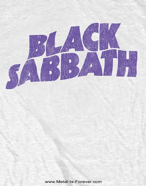 BLACK SABBATH (ブラック・サバス) WAVY LOGO VINTAGE 「ウェイビー・ロゴ」 キッズ Tシャツ(白)
