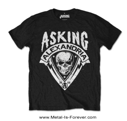 ASKING ALEXANDRIA (アスキング・アレクサンドリア) SKULL SHIELD 「スカル・シールド」 Tシャツ