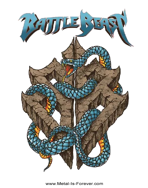BATTLE BEAST (バトル・ビースト) SNAKE SYMBOL 「スネーク・シンボル」 Tシャツ(白)