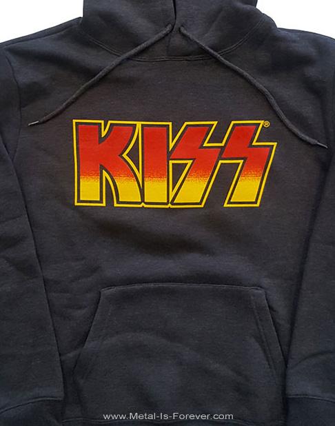 KISS (キッス) CLASSIC LOGO 「クラシック・ロゴ」 パーカー(チャコール・グレー)