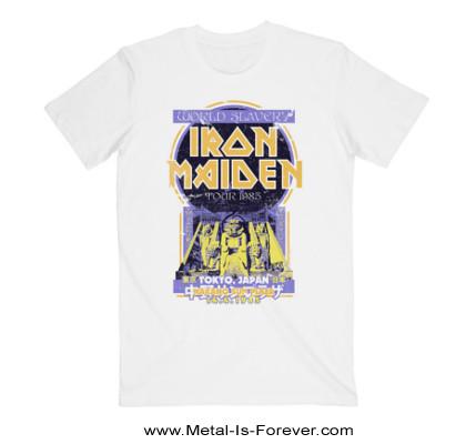 IRON MAIDEN (アイアン・メイデン) POWERSLAVE 「パワースレイヴ」 ジャパン・ツアー・フライヤー Tシャツ(白)