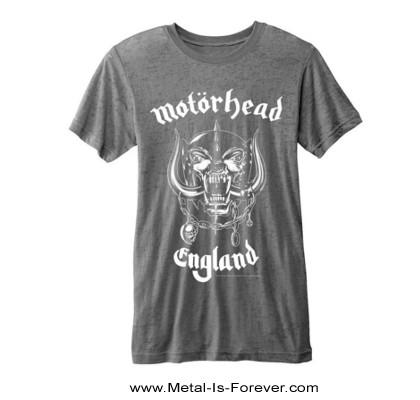 MOTORHEAD -モーターヘッド- ENGLAND 「イングランド」 バーンアウト Tシャツ(チャコール・グレー)