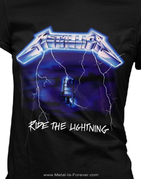 METALLICA -メタリカ- RIDE THE LIGHTNING 「ライド・ザ・ライトニング」 レディースTシャツ