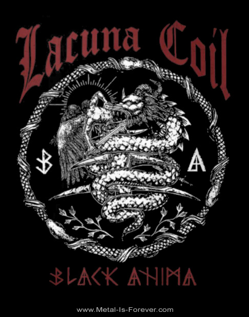 LACUNA COIL (ラクーナ・コイル) BLACK ANIMA 「ブラック・アニマ」 Tシャツ