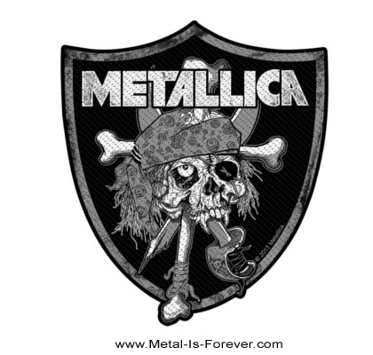 METALLICA (メタリカ) RAIDERS SKULL 「レイダーズ・スカル」 ワッペン