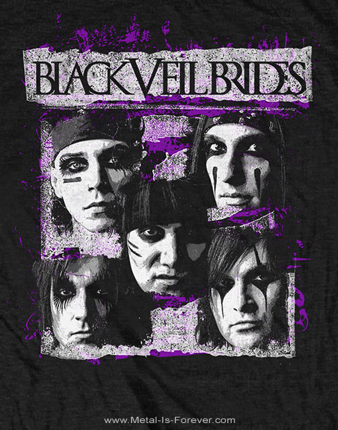 BLACK VEIL BRIDES (ブラック・ヴェイル・ブライズ) GRUNGE FACES 「グランジ・フェイス」 Tシャツ