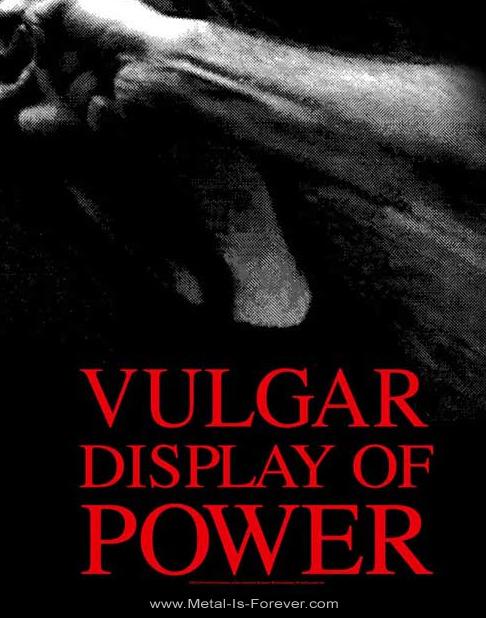PANTERA (パンテラ) VULGAR DISPLAY OF POWER 「俗悪」 布製ポスター
